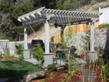 Covered patio with wisteria, Burbank, CA